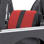XRC Rear Seat Covers,Black/Red パーツ画像