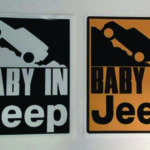 BABY IN JEEP/ロック ステッカー パーツ画像