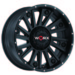 WORX 810 SENTRY SATIN BLACK SPOT MILLED DIMPLES パーツ画像
