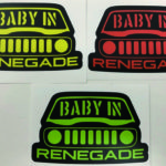 BABY IN RENEGADE ステッカー パーツ画像