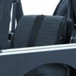 XRC Rear Seat Covers,Black/Black パーツ画像